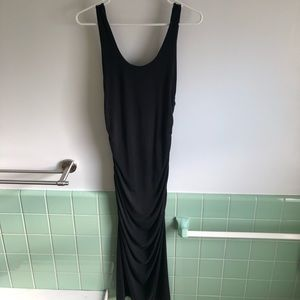 &other stories long black fitted dress size 2